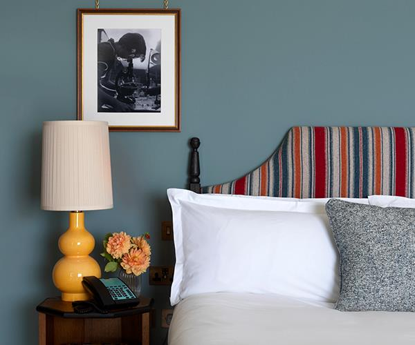 Rooms feature warm colours and quintessentially British décor