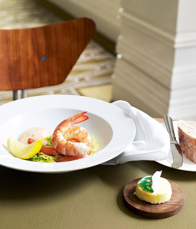 "**[Neil Perry's prawn cocktail](https://www.gourmettraveller.com.au/recipes/chefs-recipes/neil-perry-prawn-cocktail-7100 |target=""_blank"")**"