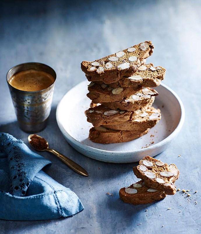 "[**Muscovado biscotti**](https://www.gourmettraveller.com.au/recipes/chefs-recipes/muscovado-biscotti-8154|target=""_blank"")"