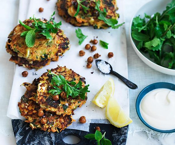 """[Carrot, fennel and feta fritters](https://www.gourmettraveller.com.au/recipes/fast-recipes/carrot-fennel-and-feta-fritters-13800