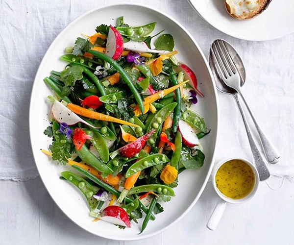 """[Grilled goat's cheese with garden salad](https://www.gourmettraveller.com.au/recipes/fast-recipes/grilled-goats-cheese-with-garden-salad-13069