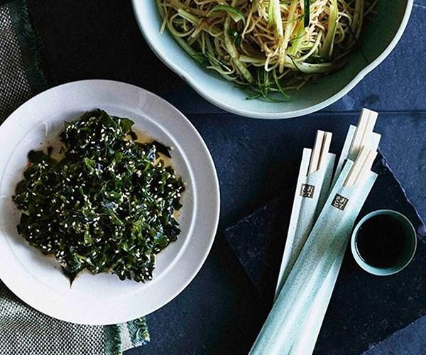 "[Wakame seaweed salad](https://www.gourmettraveller.com.au/recipes/browse-all/wakame-seaweed-salad-9768|target=""_blank"")"