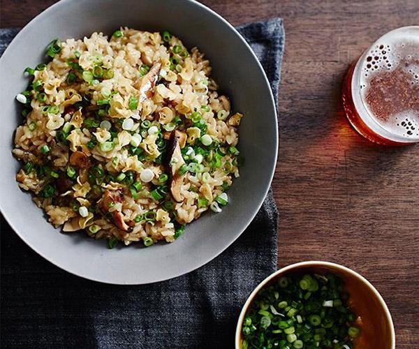 "[Yardbird's mushroom rice](https://www.gourmettraveller.com.au/recipes/chefs-recipes/yardbirds-mushroom-rice-9310|target=""_blank"")"