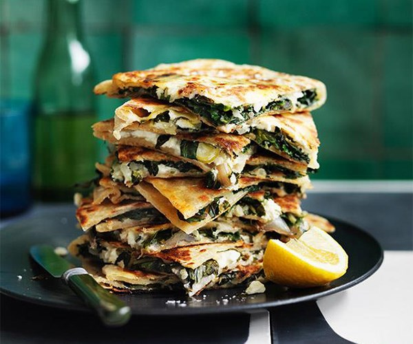 "[Feta and greens gözleme](https://www.gourmettraveller.com.au/recipes/browse-all/feta-and-greens-goezleme-12778|target=""_blank"")"