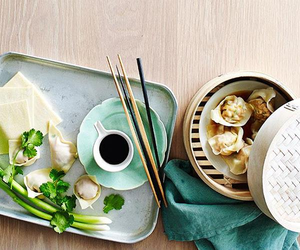 "[Four quick meals with dumplings](https://www.gourmettraveller.com.au/recipes/explainers/the-cheat-dumpling-wrappers-2215|target=""_blank"")"