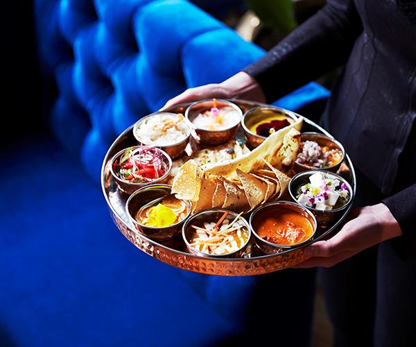 The thali from the chef's tasting menu