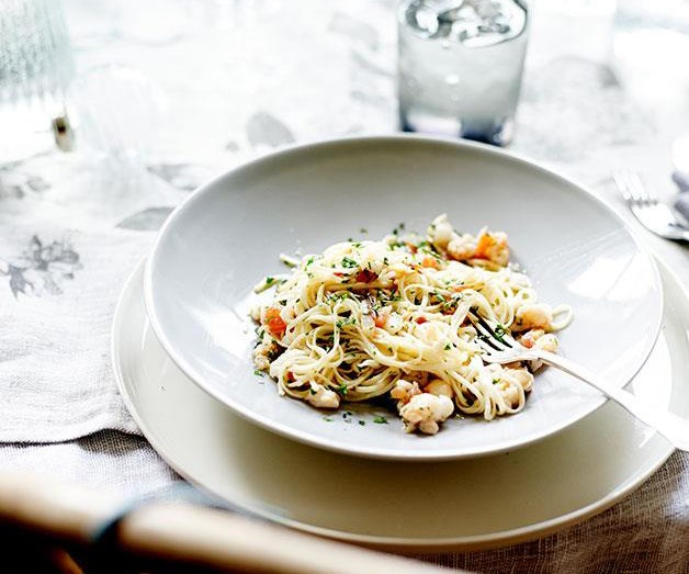 "**[Lobster tagliarini](https://www.gourmettraveller.com.au/recipes/chefs-recipes/lobster-tagliarini-7981|target=""_blank"")**"