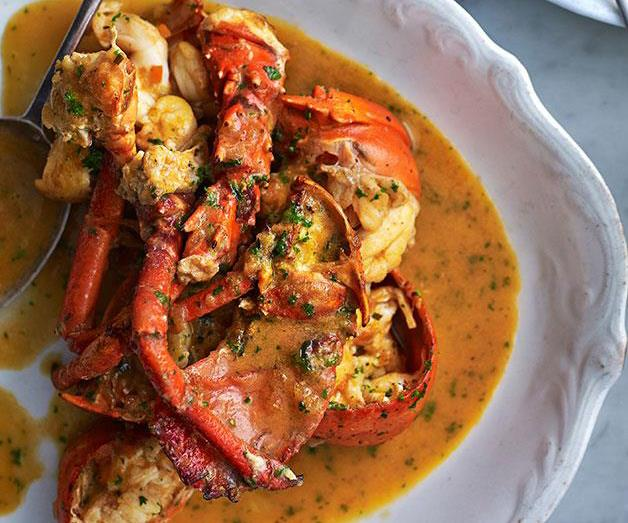 "[**Lobster à l'Américaine**](https://www.gourmettraveller.com.au/recipes/browse-all/lobster-a-lamericaine-14200|target=""_blank"")"
