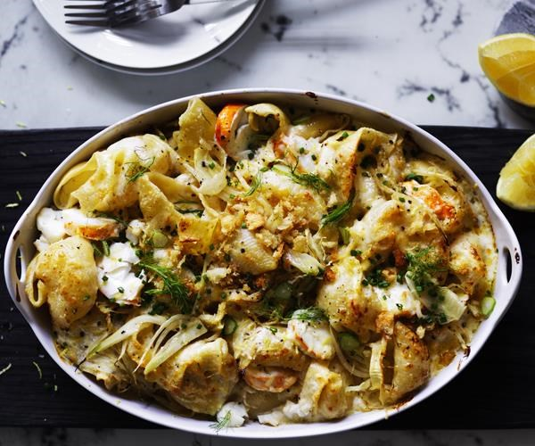 "[**Lobster pasta with lemon crumbs**](https://www.gourmettraveller.com.au/recipes/browse-all/lobster-pasta-with-lemon-crumbs-12833|target=""_blank"")"