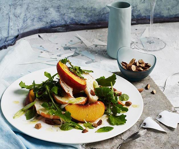"[**Lobster, peach and mint salad with smoked almond**](https://www.gourmettraveller.com.au/recipes/browse-all/lobster-peach-and-mint-salad-with-smoked-almond-12408|target=""_blank"")"