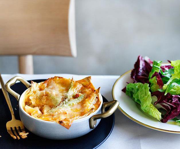 """[**Rinaldo Di Stasio's lasagne con aragosta**](https://www.gourmettraveller.com.au/recipes/chefs-recipes/rinaldo-di-stasios-lasagne-con-aragosta-8524 target=""""_blank"""")"""