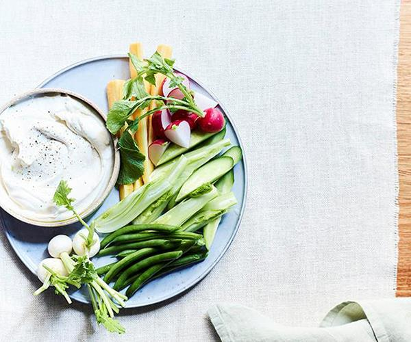 """**[Whipped cod roe and raw vegetables](https://www.gourmettraveller.com.au/recipes/chefs-recipes/whipped-cod-roe-and-raw-vegetables-15544