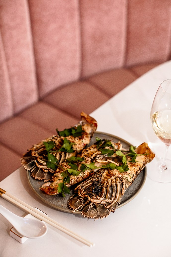 *Moreton Bay Bugs with salted duck egg yolk and fermented chilli sauce at Donna Chang (photography: Kara Rosenlund)*