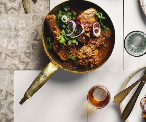 """[Persian chicken](https://www.gourmettraveller.com.au/recipes/browse-all/persian-chicken-16233 target=""""_blank"""")"""