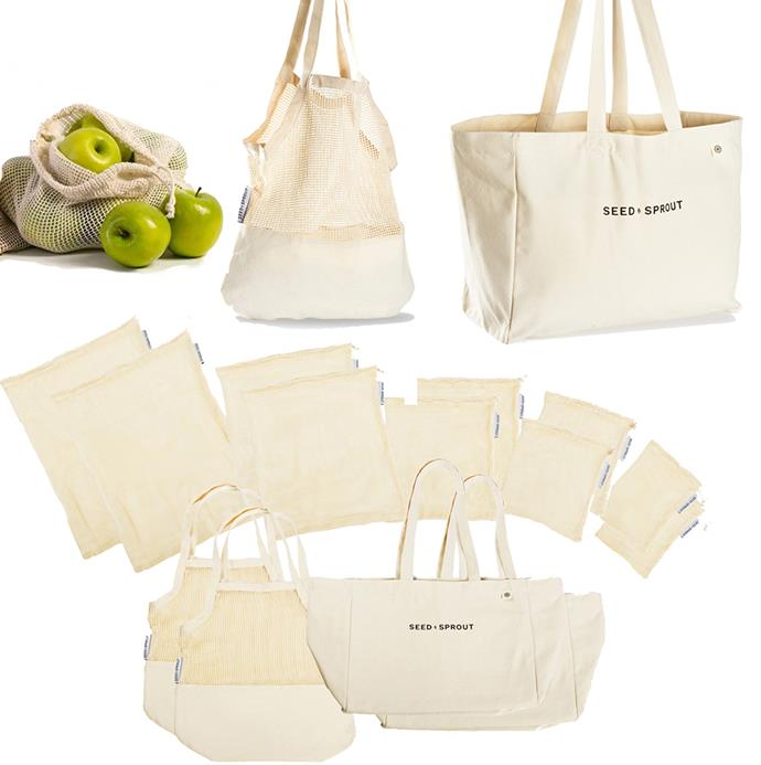 """Help those close to you be kinder to the environment with this killer farmer's market kit. It's got everything a market-goer could desire.  <br><br> [Seed & Sprout Farmer's Market shopping bundle](https://seedsprout.com.au/collections/bags/products/organic-cotton-shopping-tote-set-of-2