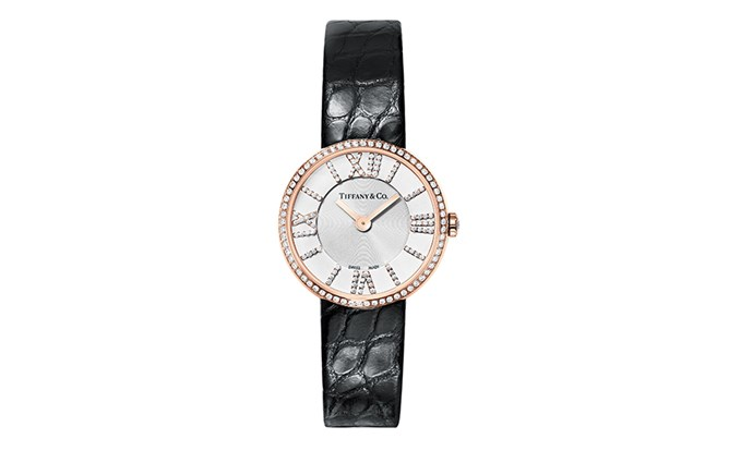 """The new 24mm Tiffany & Co Atlas watch comes with diamond indexes and offers the classic design a feminine update. Smaller in size than the original 1983 release, it caters to both special and every-day moments. <br><br> [Tiffany & Co Atlas Rose Gold watch with Pave Diamonds](https://www.tiffany.com.au/watches/atlas-watches