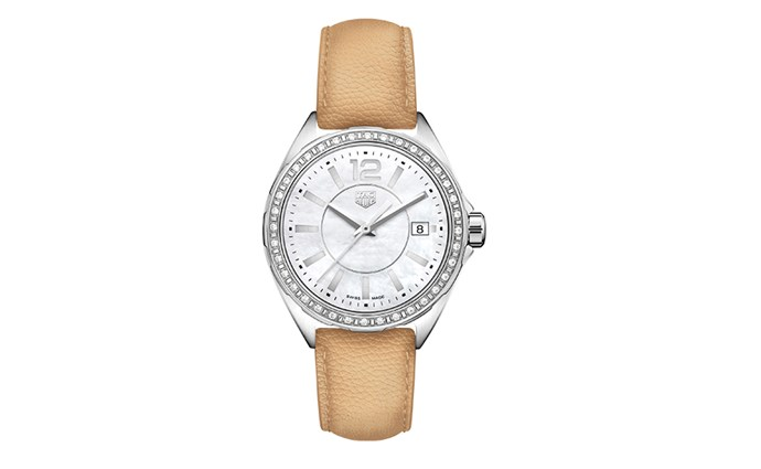 """Tag Heuer has reinterpreted its famous Formula 1 collection, its updated offering able to be personalised with interchangeable straps. With a new shape and dials, the model reads stylish yet casual — a fabulous gift for the busy woman in your life. <br><br> [Tag Heuer Formaula 1 Lady watch](https://www.tagheuer.com/en-au