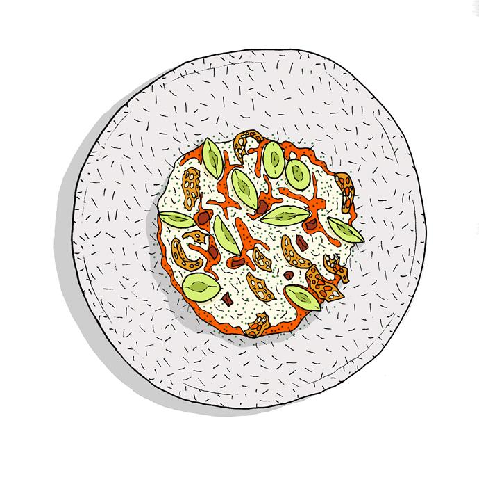 """**Stracciatella with XO sauce**,  **[XO, Canberra, ACT](https://www.gourmettraveller.com.au/dining-out/restaurant-reviews/xo-7094 target=""""_blank"""")**  A study in contrasting textures, colour and heat: creamy stracciatella balances the spice of XO sauce, shavings of fried Chinese """"doughnut"""" provide contrasting crunch, and wedges of Thompson grapes offer just a suggestion of sweetness. Perfect with a $25 glass of Chartogne-Taillet grower Champagne. **Gareth Meyer**"""