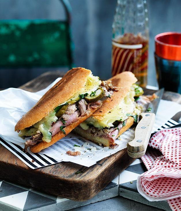 "[Cuban sandwiches](https://www.gourmettraveller.com.au/recipes/browse-all/cuban-sandwiches-12543 target=""_blank"")"