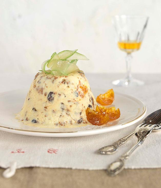 "[Frozen Christmas pudding](https://www.gourmettraveller.com.au/recipes/browse-all/frozen-christmas-pudding-14077|target=""_blank"")"