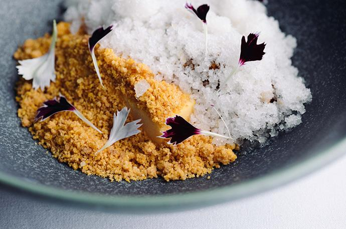 Carrot, cardamom, mandarin and burnt cream at Sidart. *Photo: Josh Griggs*