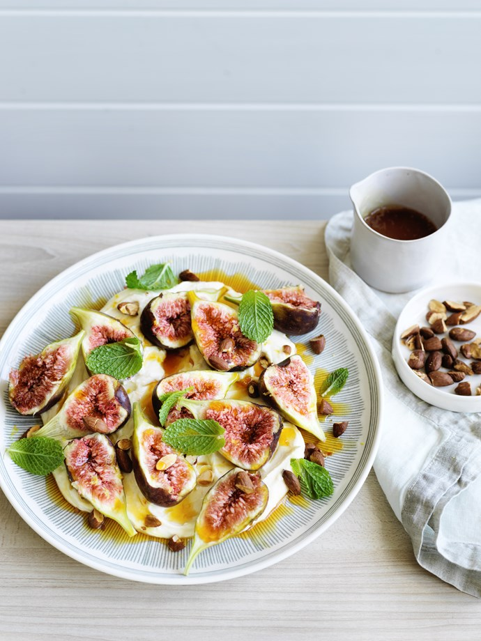 "[Figs with whipped ricotta, orange and mint](http://www.gourmettraveller.com.au/recipes/fast-recipes/figs-with-whipped-ricotta-orange-and-mint-15754|target=""_blank"")  **Recipe:** Max Adey **Photography:** William Meppem **Styling:** Emma Knowles"