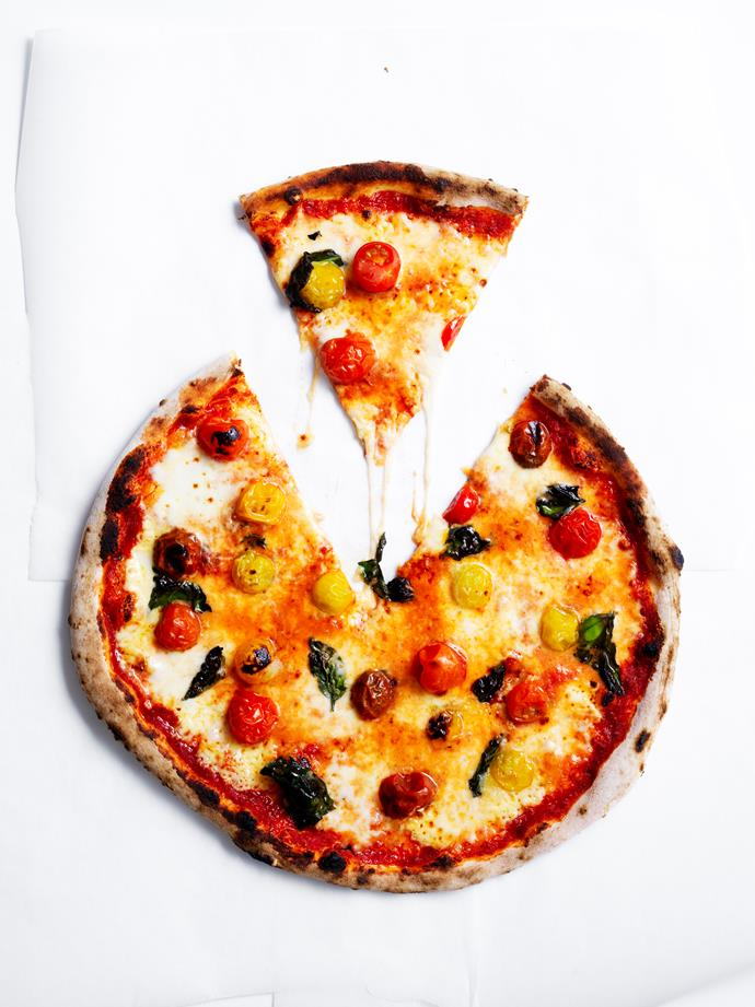 """[Sorbello pizza](https://www.gourmettraveller.com.au/recipes/chefs-recipes/sorbello-pizza-16510 target=""""_blank"""")   **Recipe:** Monty Koludrovic **Photography:** Ben Dearnley **Styling:** Lisa Featherby and Liz Elton"""