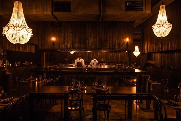The dining room at Hôntô (photography: Kara Rosenlund)