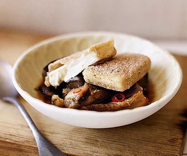 "[Salt-and-pepper tofu with braised eggplant](https://www.gourmettraveller.com.au/recipes/browse-all/salt-and-pepper-tofu-with-braised-eggplant-14060|target=""_blank"")"