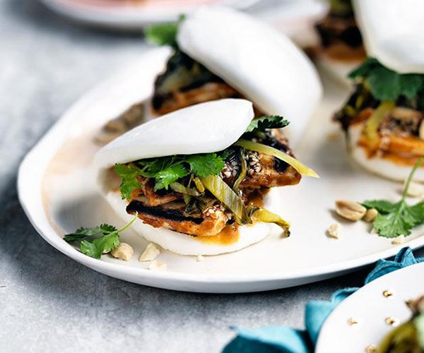 "[Peanut-butter tofu buns with burnt chilli mayo](https://www.gourmettraveller.com.au/recipes/chefs-recipes/peanut-butter-tofu-buns-with-burnt-chilli-mayo-9195|target=""_blank"")"