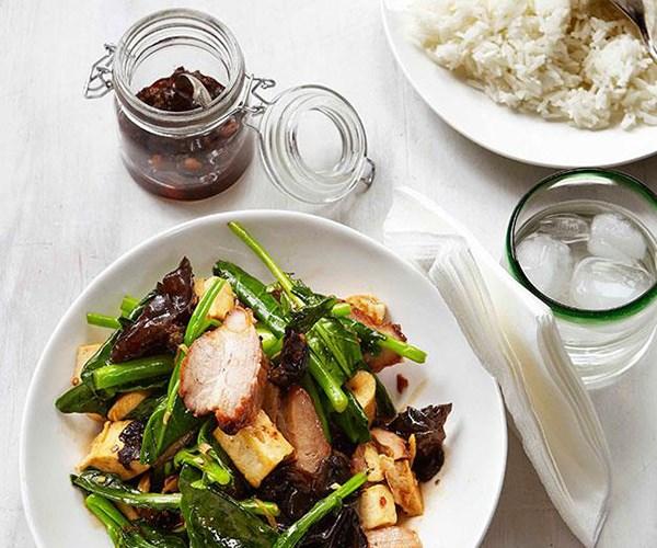 "[Stir-fried greens with char siu](https://www.gourmettraveller.com.au/recipes/browse-all/stir-fried-greens-with-char-siu-14145|target=""_blank"")"