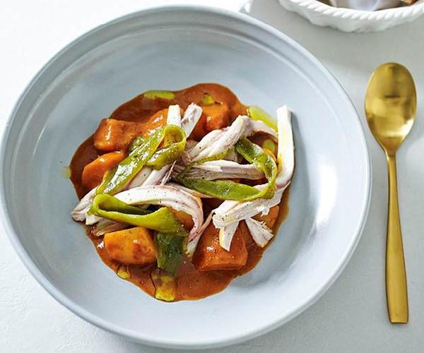 "[Stingray in saffron and cumin sauce](https://www.gourmettraveller.com.au/recipes/chefs-recipes/stingray-in-saffron-and-cumin-sauce-8300|target=""_blank"")"