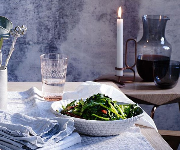 """[English spinach with cumin seeds](https://www.gourmettraveller.com.au/recipes/browse-all/english-spinach-with-cumin-seeds-12329