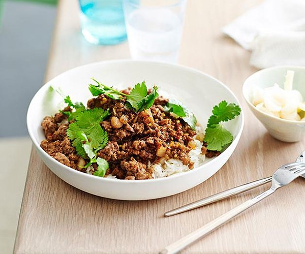 """[Shaanxi-style lamb with rice](https://www.gourmettraveller.com.au/recipes/fast-recipes/shaanxi-style-lamb-with-rice-13537