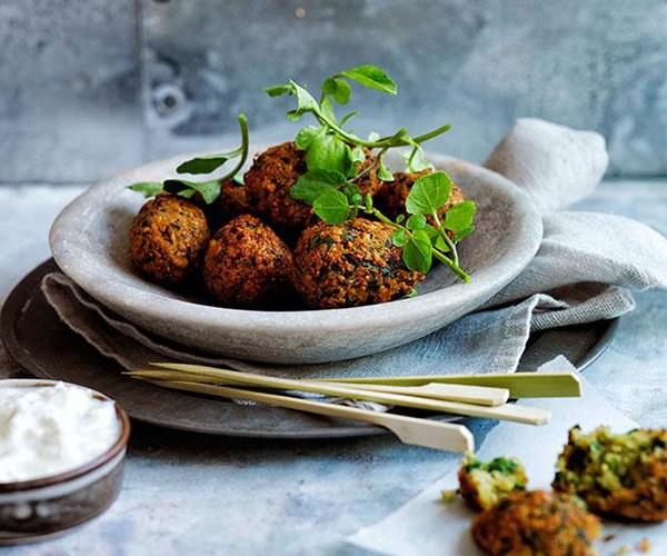 "[Falafel](https://www.gourmettraveller.com.au/recipes/browse-all/falafel-11659|target=""_blank"")"