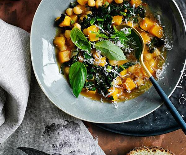 "[Chickpea, pumpkin and cavolo nero soup](https://www.gourmettraveller.com.au/recipes/browse-all/chickpea-pumpkin-and-cavolo-nero-soup-12765|target=""_blank"")"