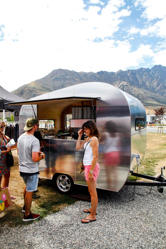 Coffee cart at The Remarkables market.