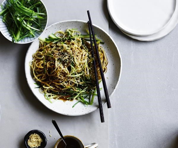 """[Shanghai-style chilled noodles](https://www.gourmettraveller.com.au/recipes/chefs-recipes/shanghai-style-chilled-noodles-16757
