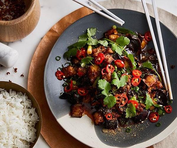 "[Good Luck Pinbone's sichuan chilli eggplant with wood-ear fungus](https://www.gourmettraveller.com.au/recipes/chefs-recipes/good-luck-pinbones-sichuan-chilli-eggplant-with-wood-ear-fungus-9319 target=""_blank"")"