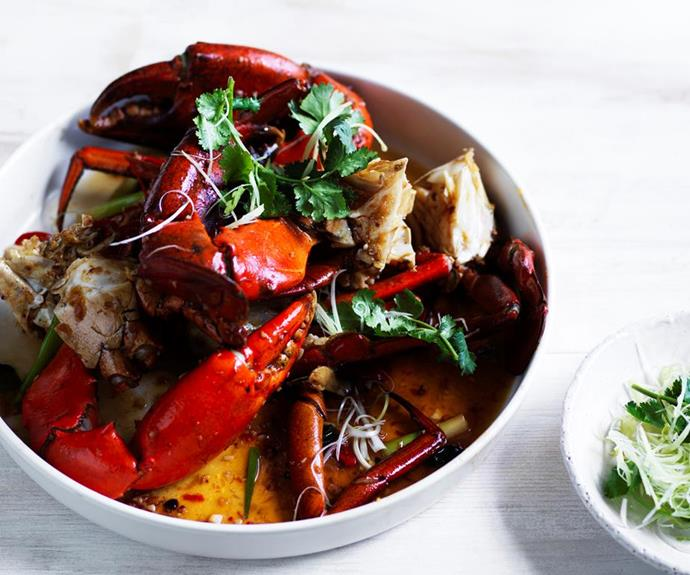 "**[Dan Hong's mud crab with XO sauce](https://www.gourmettraveller.com.au/recipes/chefs-recipes/mud-crab-with-xo-sauce-16619|target=""_blank"")**"