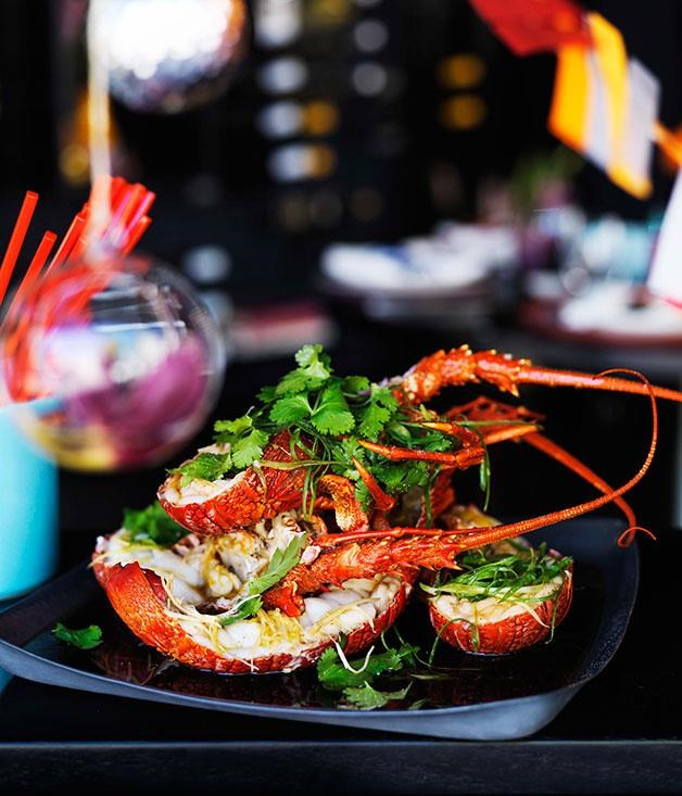 """[Steamed lobster with ginger and spring onions](https://www.gourmettraveller.com.au/recipes/browse-all/steamed-lobster-with-ginger-and-spring-onions-10925