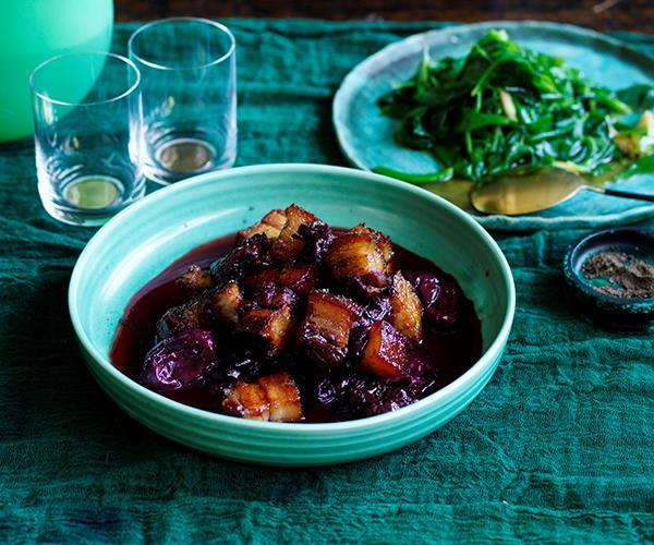 "**[Kylie Kwong's sweet and sour pork with Davidson's plum](https://www.gourmettraveller.com.au/recipes/chefs-recipes/sweet-and-sour-pork-with-davidsons-plum-8620|target=""_blank"")**"