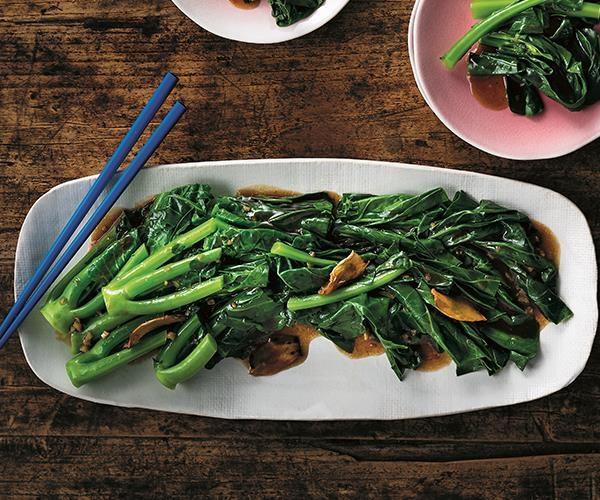 "[Stir-fried gai lan](https://www.gourmettraveller.com.au/recipes/chefs-recipes/stir-fried-gai-lan-15696 target=""_blank"")"