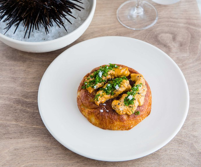 The sea urchin crumpet at Saint Peter (Photo: Nikki To)
