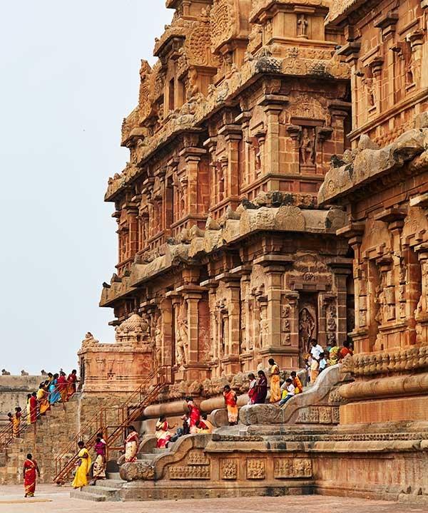The 11th-century Brihadeeswarar Temple, Thanjavur