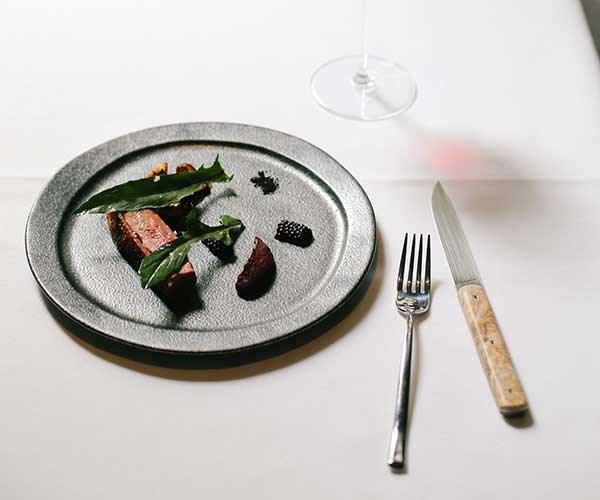 Duck, shiitake, blackberry, black garlic (Photo: Jess Kneebone)