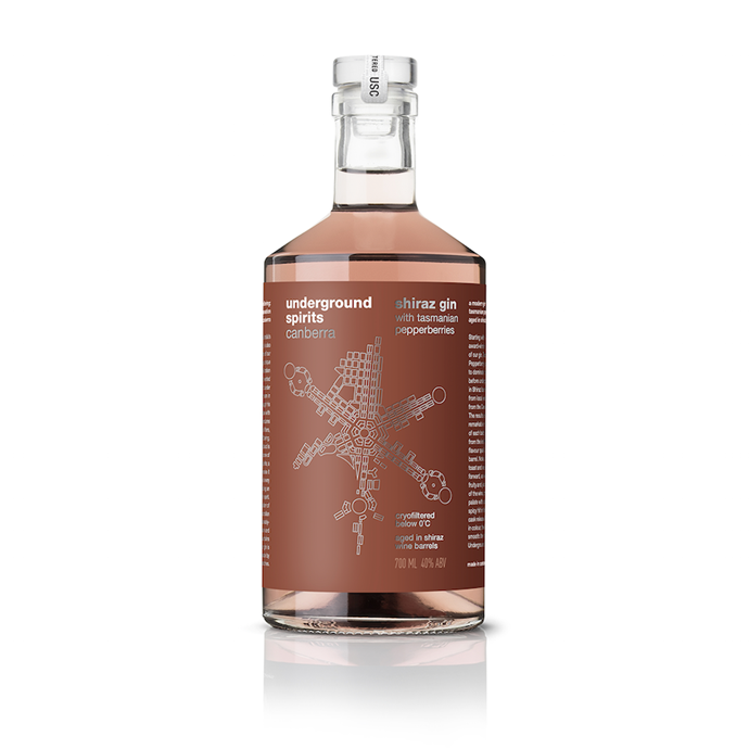 """**Underground Spirits Shiraz gin** Take your afternoon G&T to another level. Underground Spirits' patented sub-zero filtration method removes spirit impurities to deliver a velvety gin, bursting with native botanicals. Matured in shiraz oak barrels, the Canberra distillery's gin is infused with Tasmanian pepperberry, promising gin lovers a new, piquant experience. [undergroundspirits.com.au](https://www.undergroundspirits.com.au/collections/all/products/shiraz-pepperberry-french-oak-edition-gin