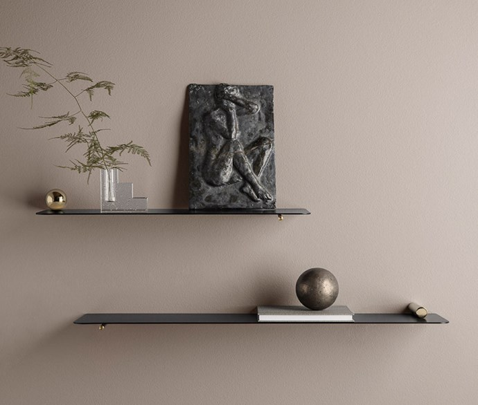 "**Ferm Living shelves** Embellished with timeless brass fixtures, use these minimalist-style shelves to house treasured keepsakes, small arts and special trinkets from your loved one. [designstuff.com.au](https://www.designstuff.com.au/ferm-living-flying-shelf-sphere-brass/|target=""_blank""