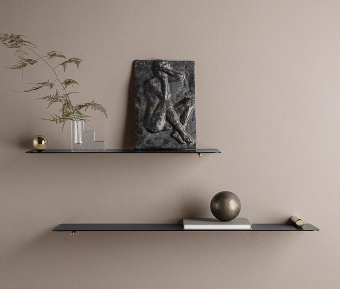 """**Ferm Living shelves** Embellished with timeless brass fixtures, use these minimalist-style shelves to house treasured keepsakes, small arts and special trinkets from your loved one. [designstuff.com.au](https://www.designstuff.com.au/ferm-living-flying-shelf-sphere-brass/