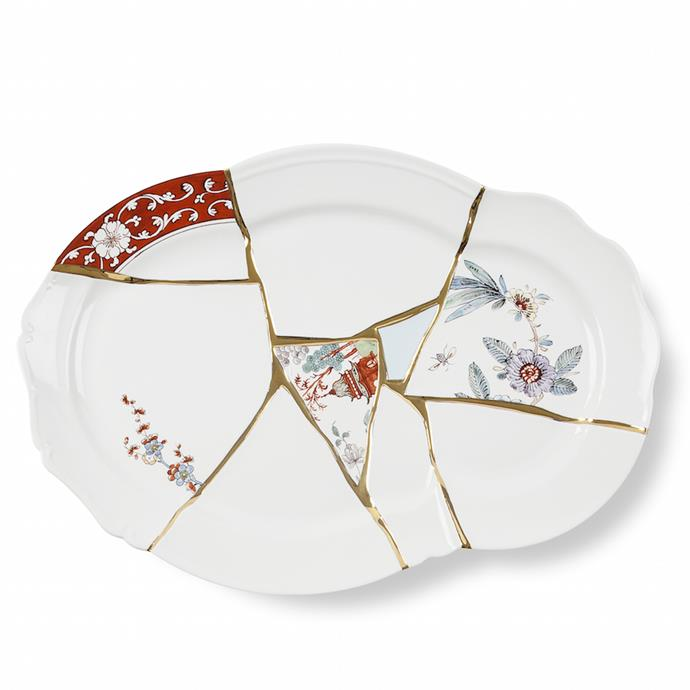 """**Seletti Kintsugi tray** Make a statement at your next dinner party with this Kintsugi platter from Italian homeware innovators, Seletti. With unexpected gold detailing and clashing porcelain fragments, this piece can also double as an attractive table centrepiece. [farfetch.com.au](https://www.farfetch.com/au/shopping/women/seletti-kintsugi-tray-item-13694395.aspx?storeid=9475